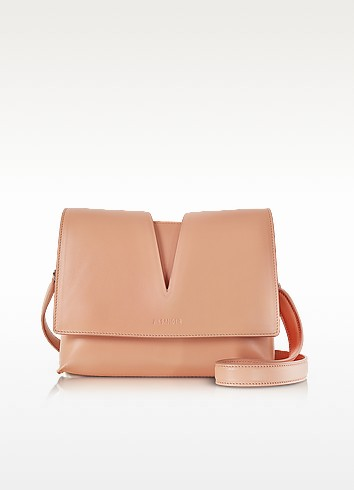 View Open Tan Soft Leather Small Shoulder Bag - Jil Sander