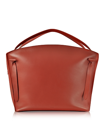 Jil Sander - Hill Duo Bright Red Leather Extra Large Handbag