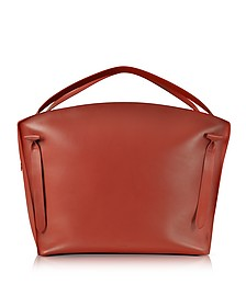Hill Duo - Trés Grand Sac à Main en Cuir Rouge - Jil Sander