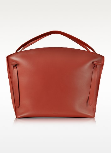 Hill Duo Bright Red Leather Extra Large Handbag - Jil Sander