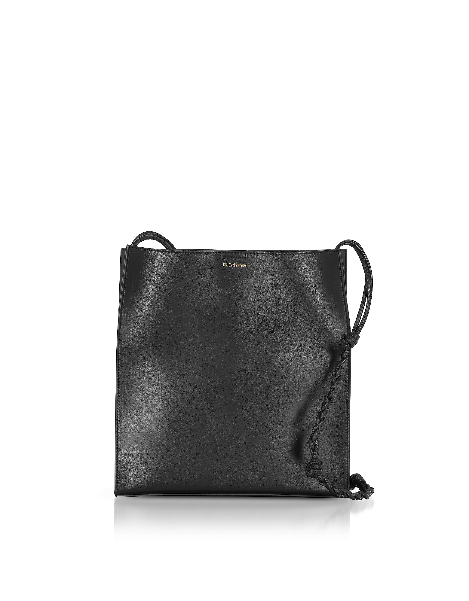 Jil Sander Handbags, Black Leather Tote Bag