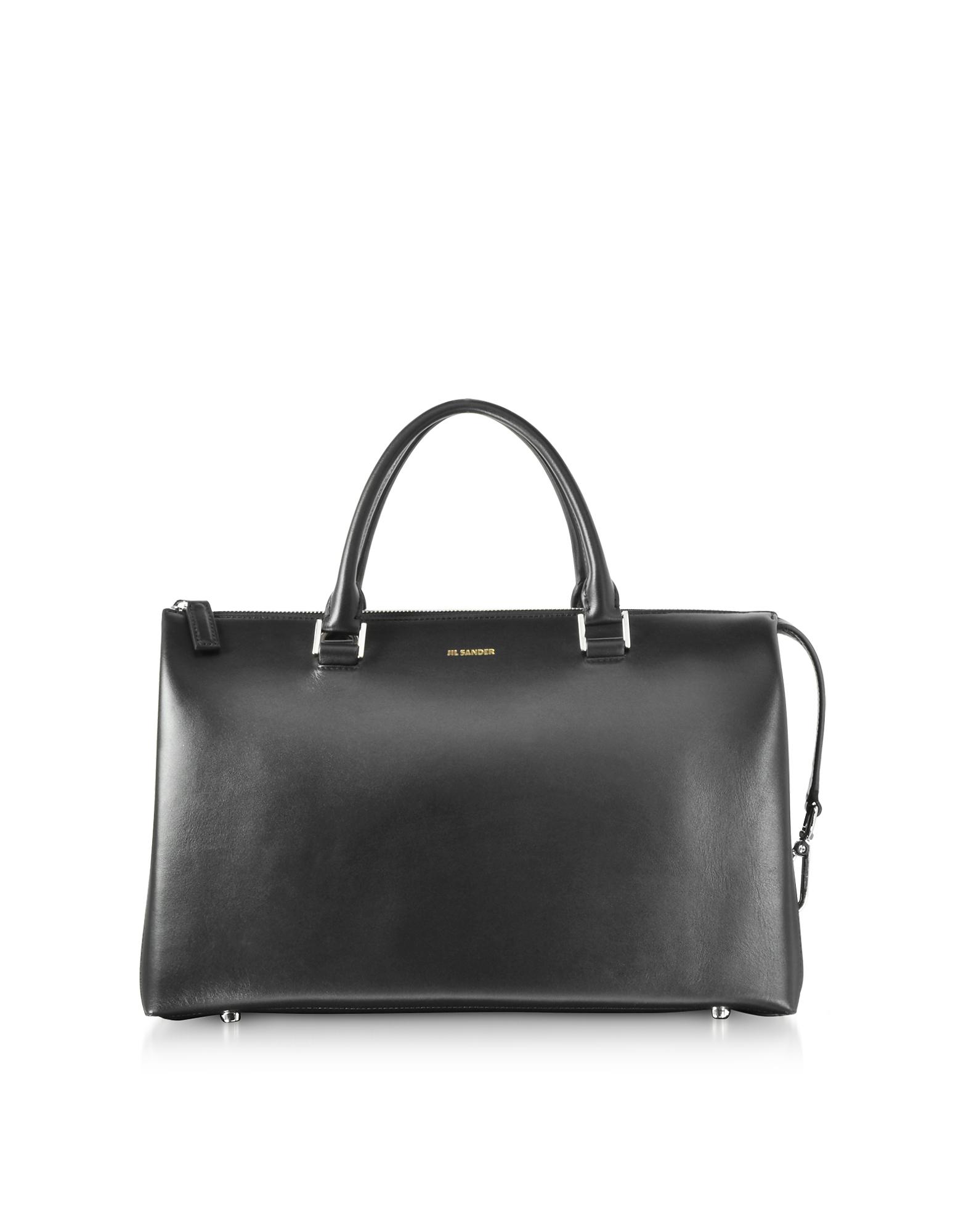 Jil Sander Handbags, Open Miscellaneous Leather Satchel Bag