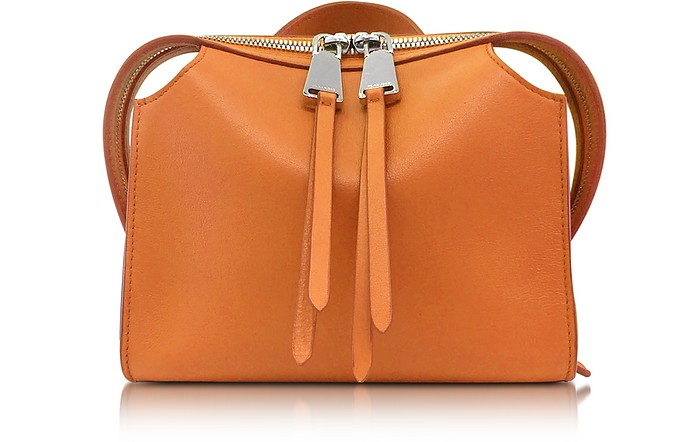 Open Orange Leather Small Clover Handbag - Jil Sander