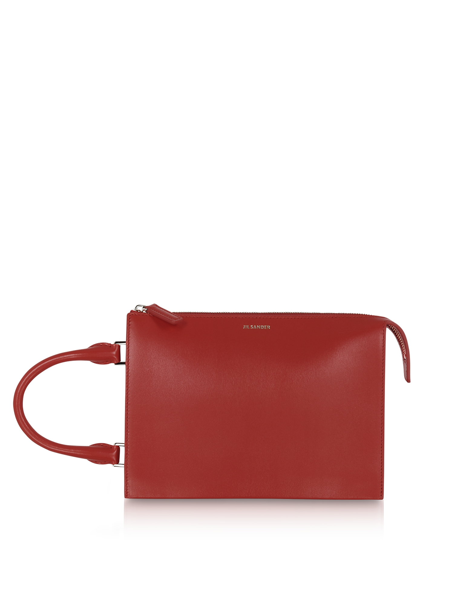 Tootie Small Dark Red Leather Clutch