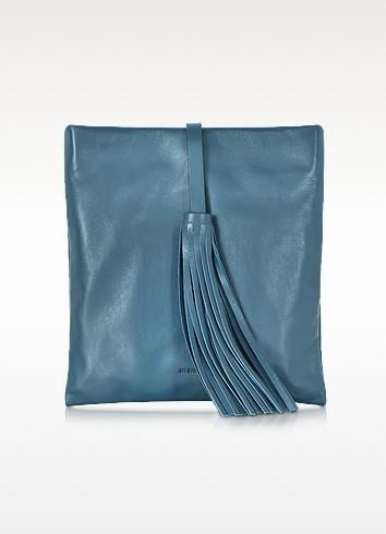 Dark Turquoise Lullabby Tassel Clutch - Jil Sander