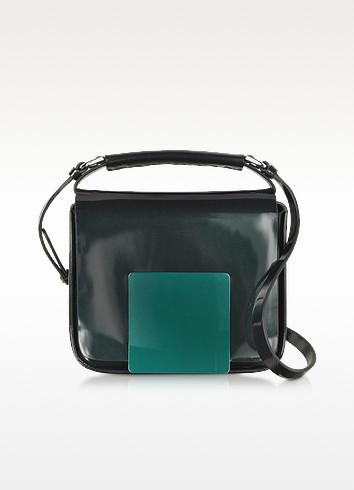 Dark Green/Aubergine Iridescent Lady J Crossbody Clutch - Jil Sander