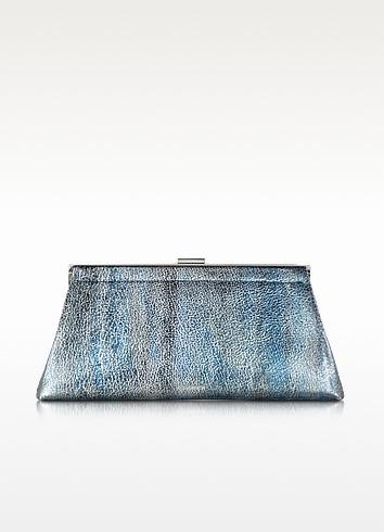 Metallic Leather Jil Clutch - Jil Sander