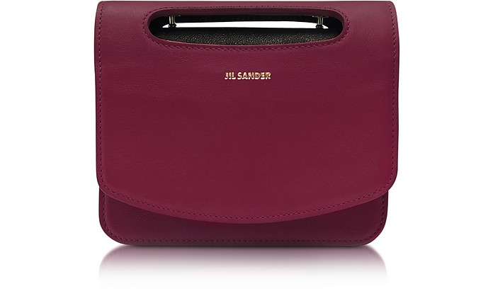 Marsala Leather Small Crossbody - Jil Sander