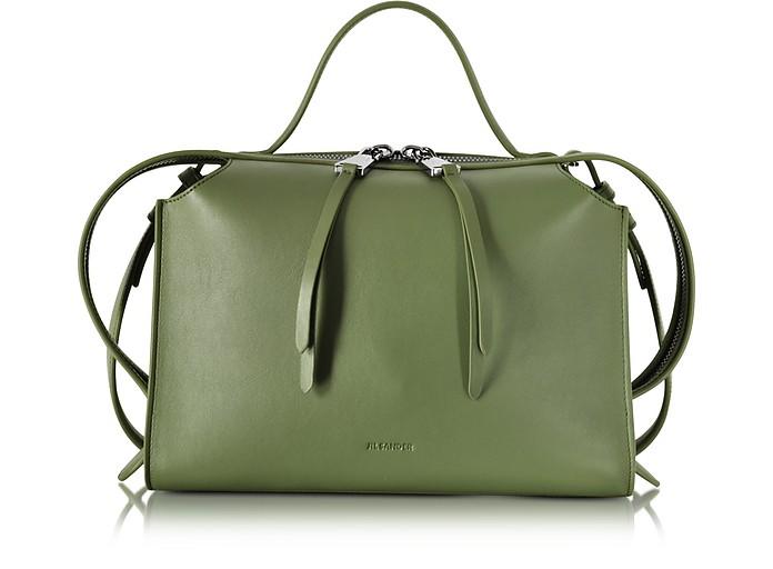 Bright Green Small Clover Leather Satchel Bag - Jil Sander / ジル サンダー