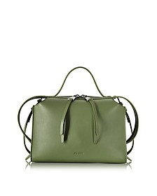 Bright Green Small Clover Leather Satchel Bag - Jil Sander