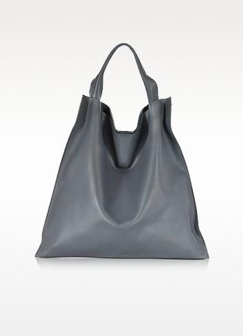 Jil Sander Medium Xiao Bag - Темно-серая Кожаная Сумка