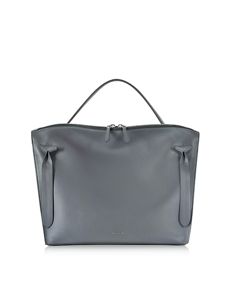 Foto Jil Sander Medium Hill Borsa a Mano in Pelle Antracite Borse donna