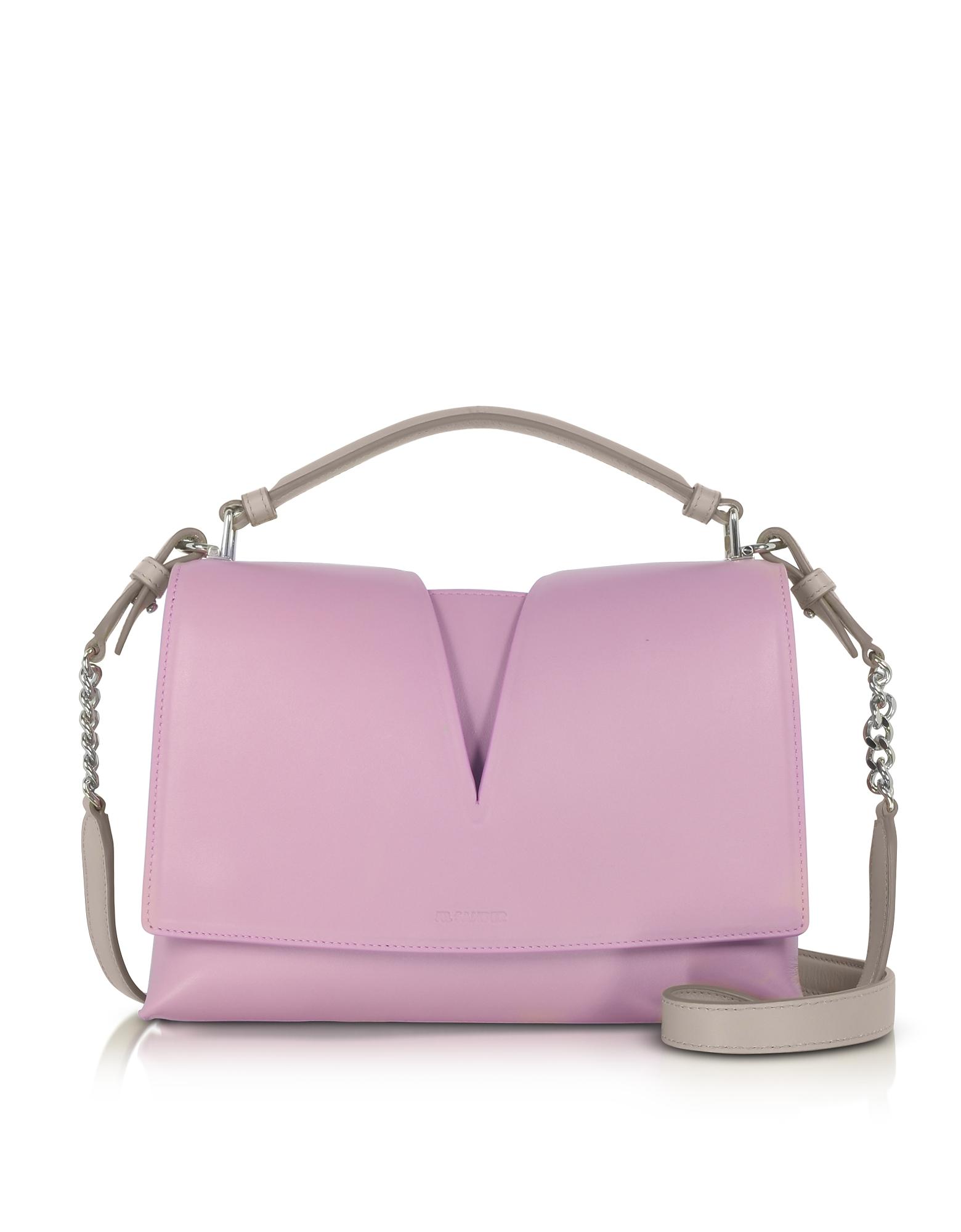 Jil Sander Handbags, View Handle Small Knitted Leather Shoulder Bag
