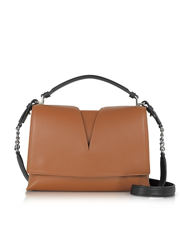 Jil Sander - View Handle Small Knitted Leather Shoulder Bag