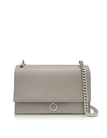 Jil Sander - Open Beige Leather Medium Ring Shoulder Bag