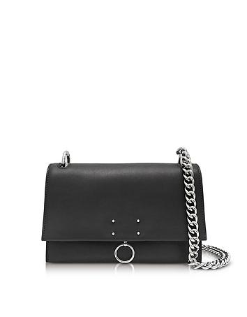 Jil Sander - Black Leather Small Ring Shoulder Bag