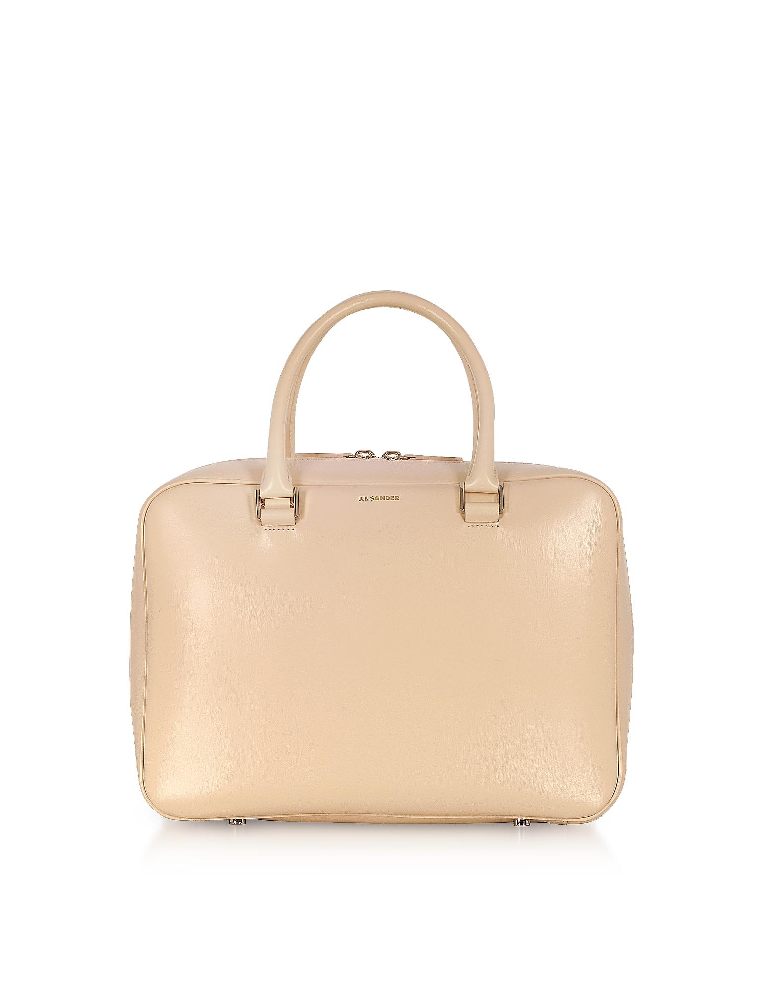 Jil Sander Handbags, J-Vision Small Leather Satchel Bag