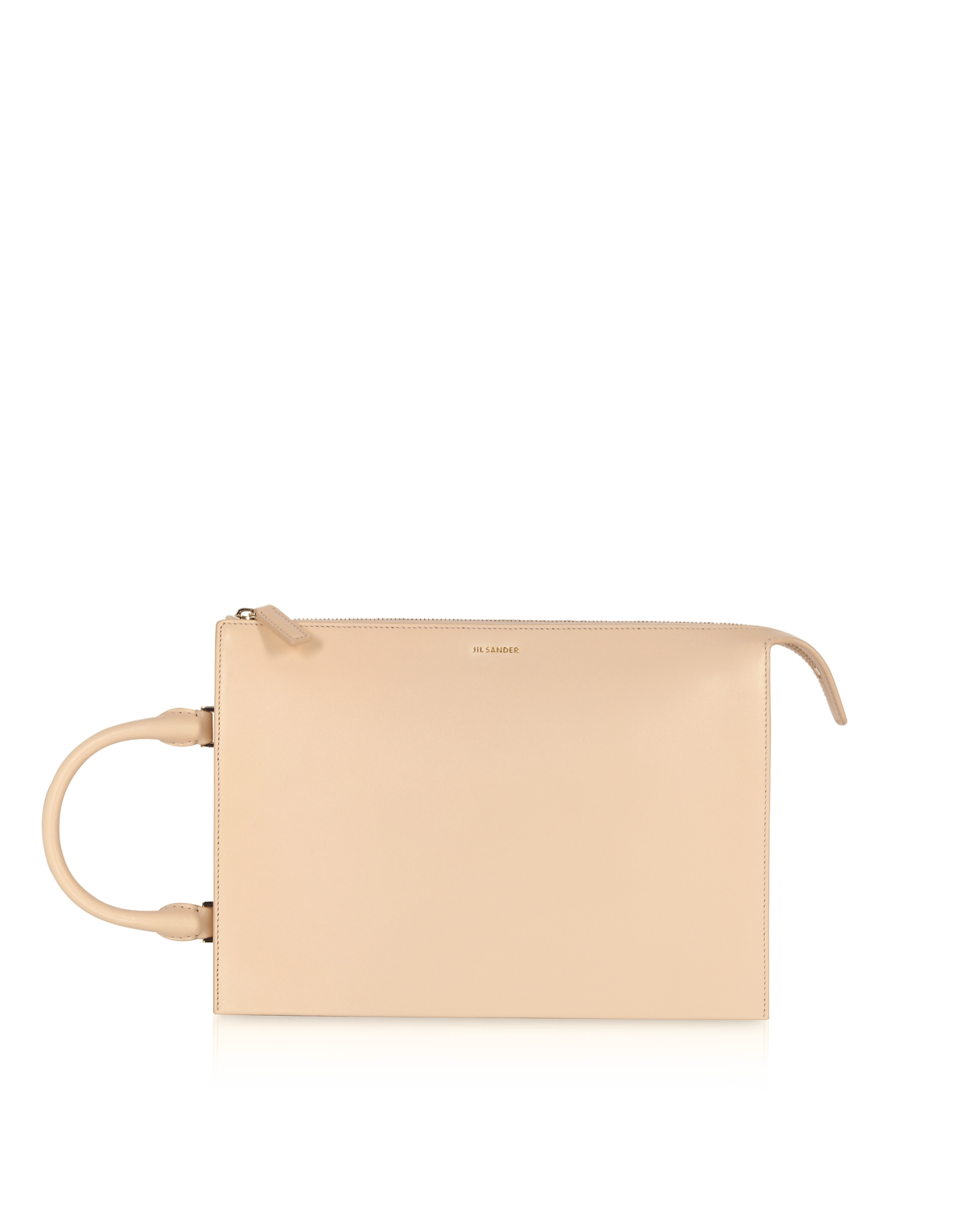 Image of Jil Sander Designer Handbags, Tootie Medium Knitted Leather Handbag