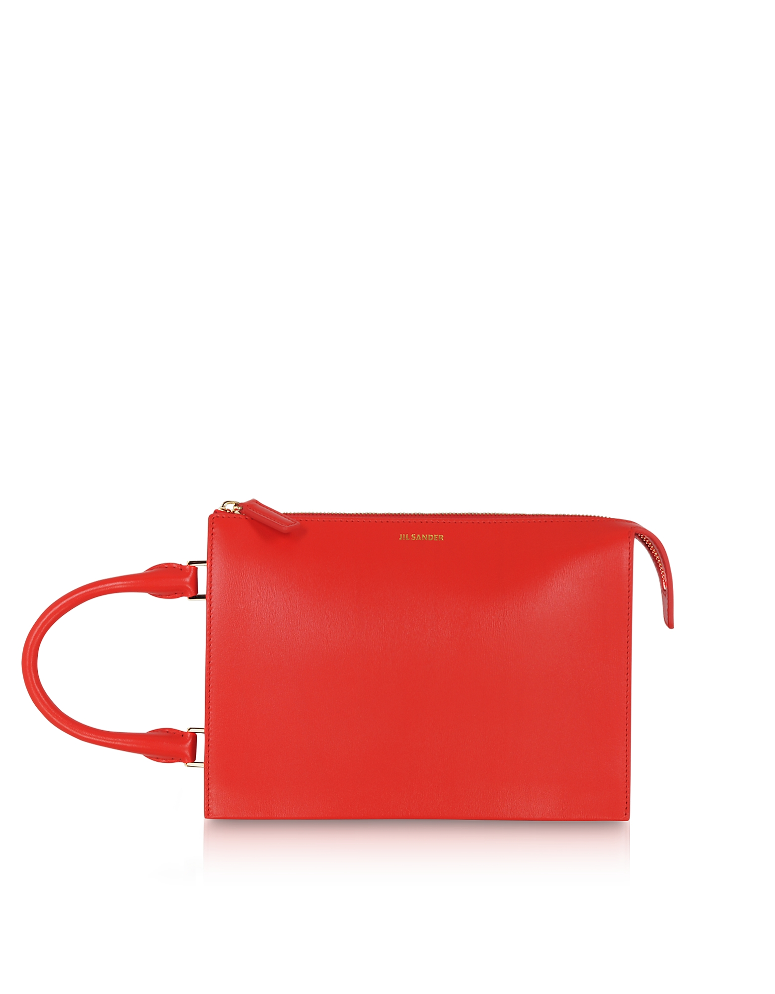 Image of Jil Sander Designer Handbags, Tootie Small Knitted Leather Handbag