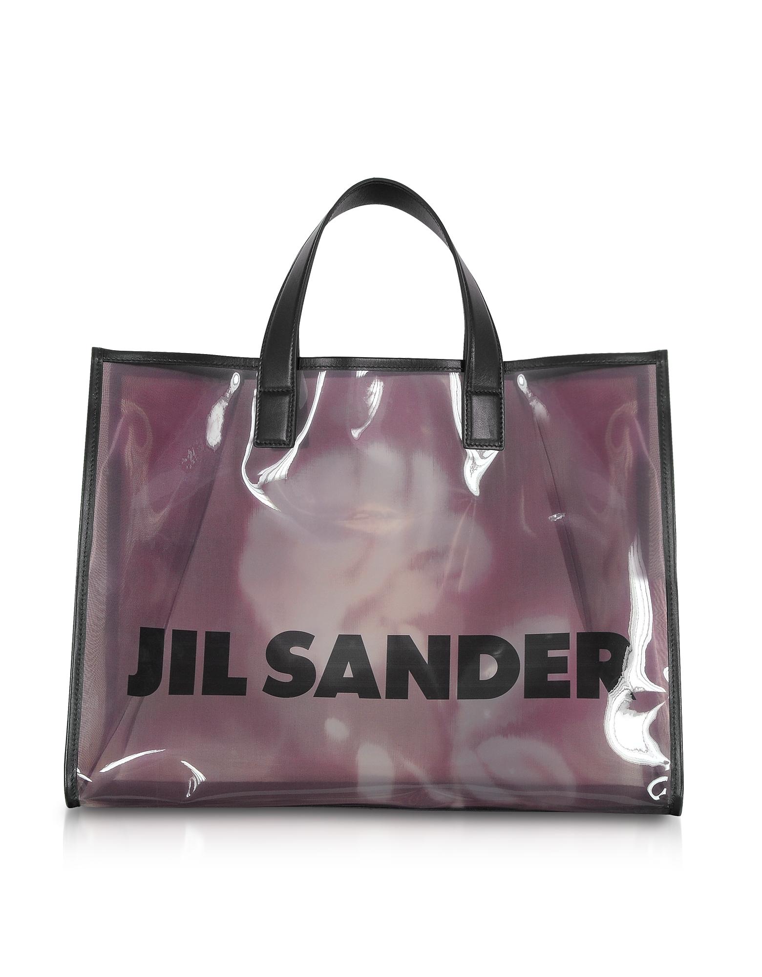 Image of Jil Sander Designer Handbags, See-through Medium Vinyl Tote bag