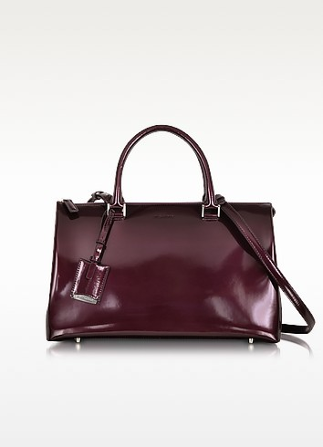 Purple Patent Leather Medium Jil Bag - Jil Sander
