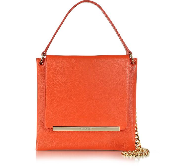 Double Square Leather Shoulder Bag - Jil Sander