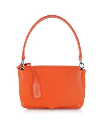 Jane Orange Leather Handbag