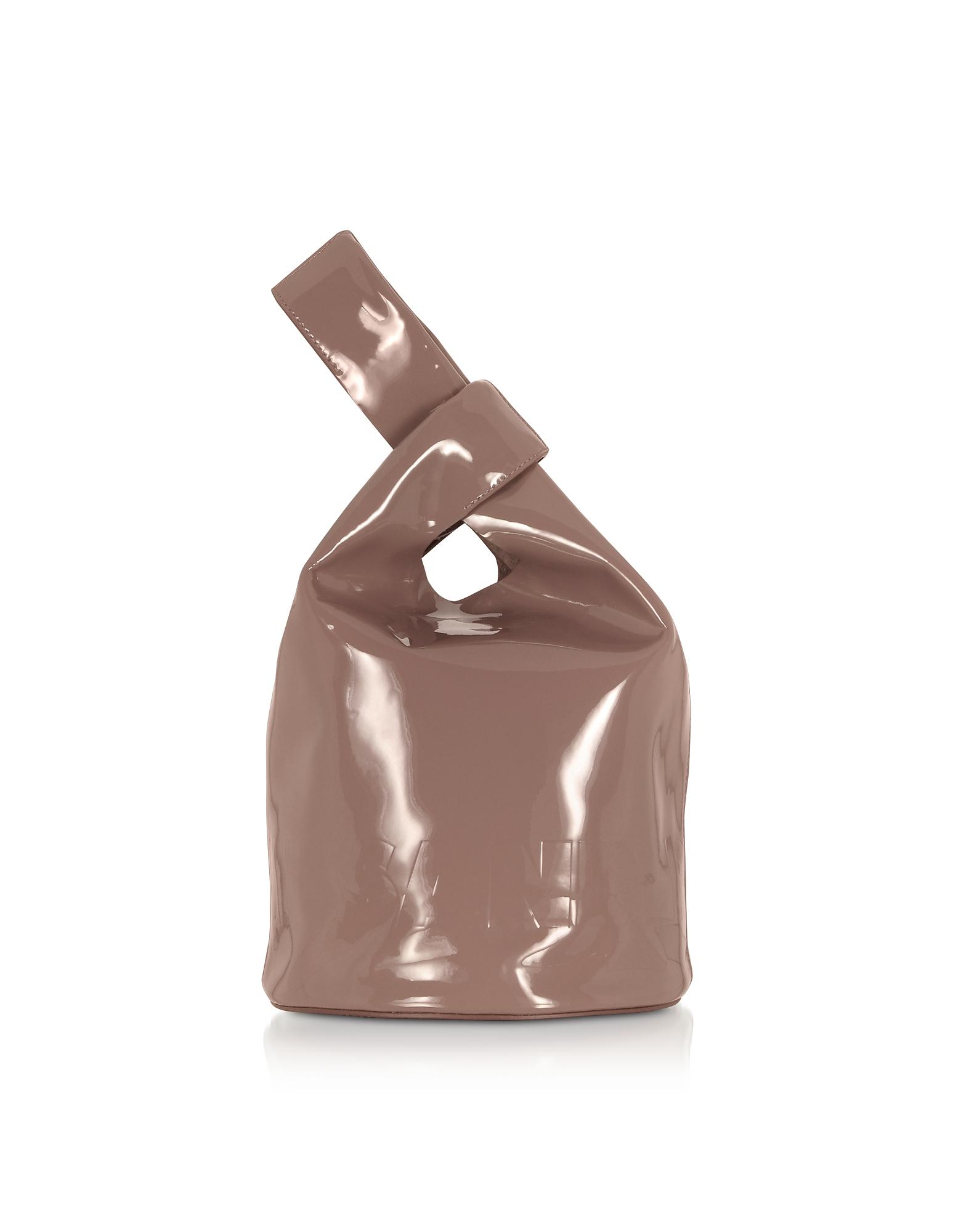 Jil Sander Designer Handbags, Dark Pink Small Market Bucket Bag