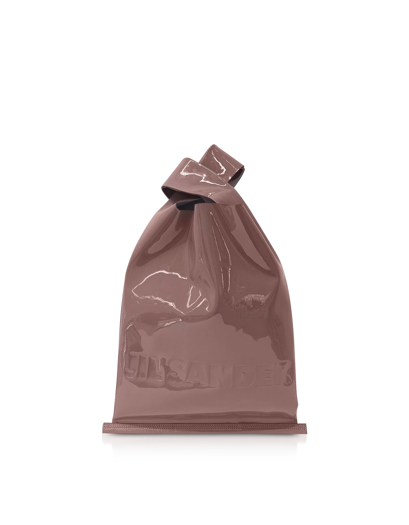Jil Sander Designer Handbags, Soft Patent Leather Market Bag