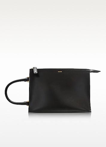 Nizan Grained Leather Clutch - Jil Sander