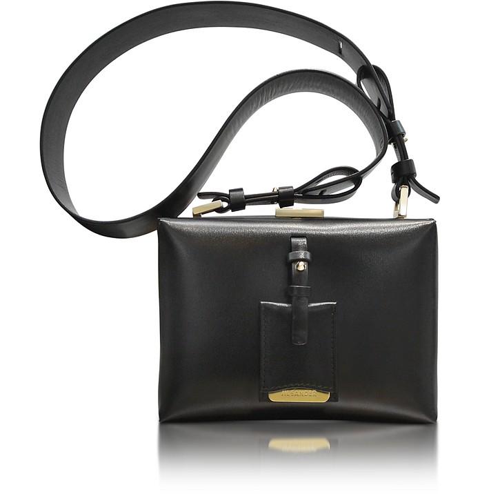 Nuvoletti Black Leather Shoulder Bag - Jil Sander