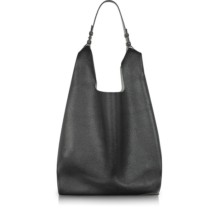 Black and White Leather New Market Bag - Jil Sander