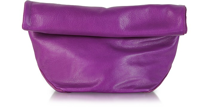 Small Pilade Leather Roll Over Clutch - Jil Sander