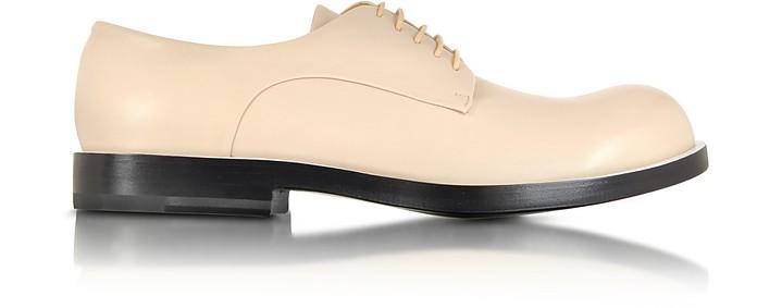 Powder Pink Leather Derby Shoe - Jil Sander