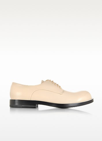 Powder Pink Leather Derby Shoe - Jil Sander