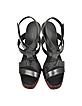 Black Leather High-Heel Sandal - Jil Sander
