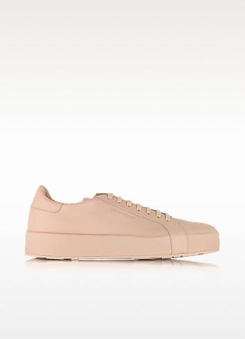 Light Pink Leather Sneaker  - Jil Sander
