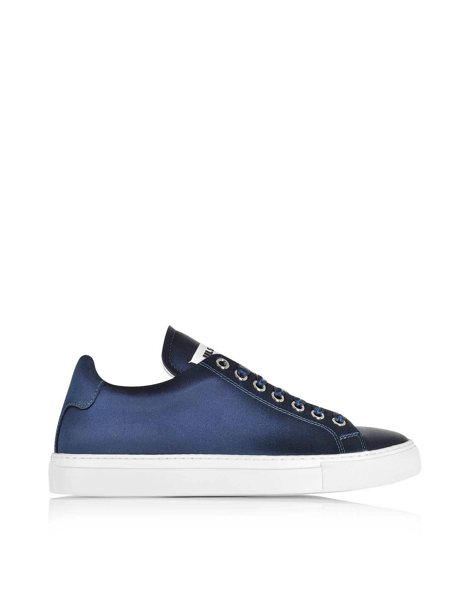Sneaker da Donna in Satin Blu