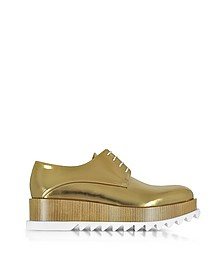 Bronze Leather Platform Oxford Shoe - Jil Sander