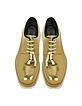 Bronze Leather Platform Oxford Shoe - Jil Sander