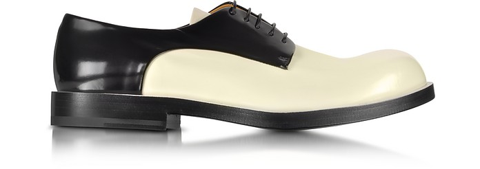 Black and Cream Lace up Shoe - Jil Sander