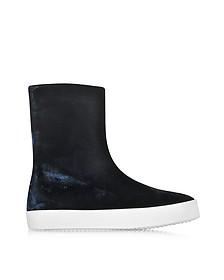 Dark Blue Velvet Boots w/Rubber Sole - Jil Sander