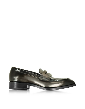 Mirror Black Leather Loafer Shoe