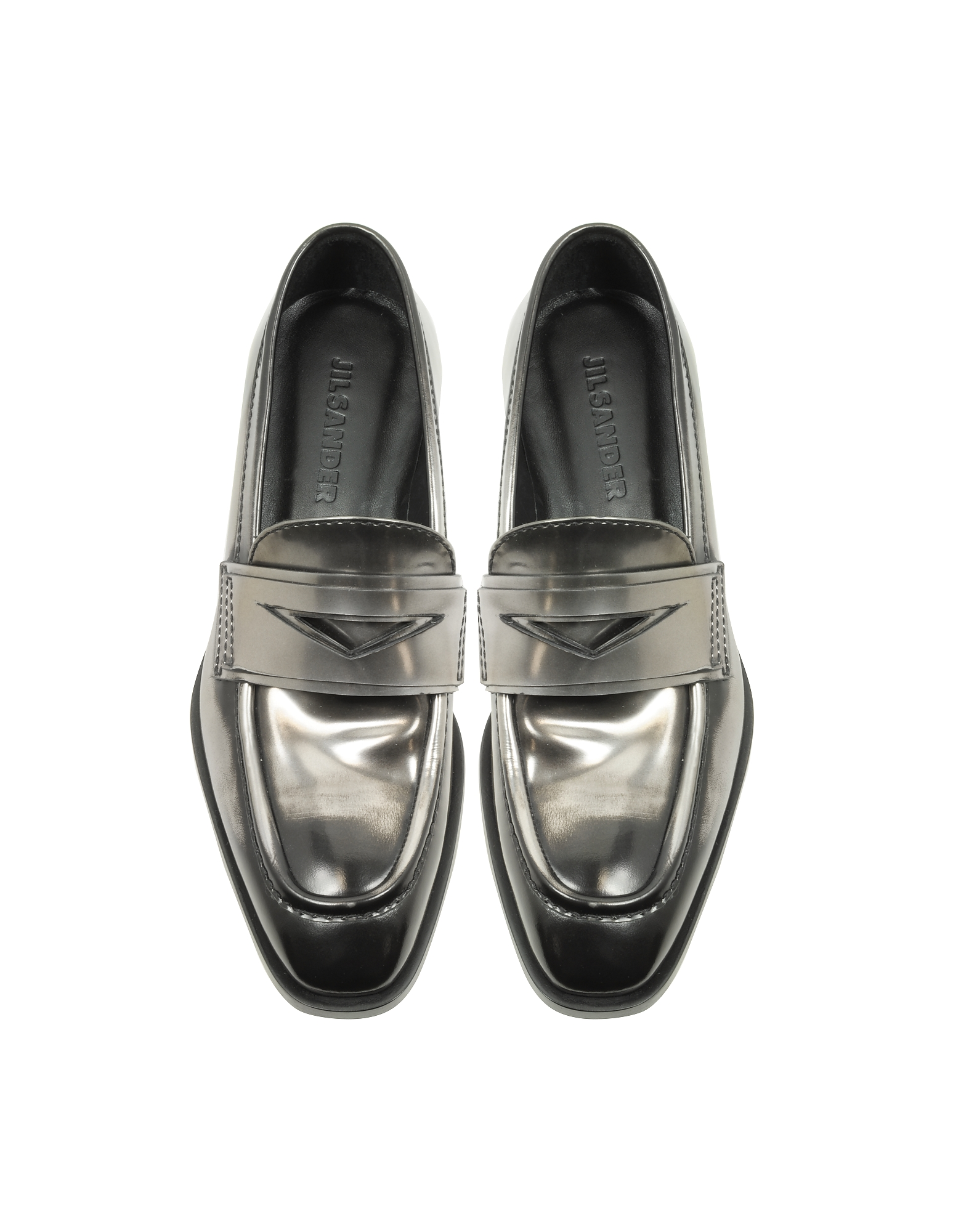 Mirror Black Leather Loafer Shoe от Forzieri INT