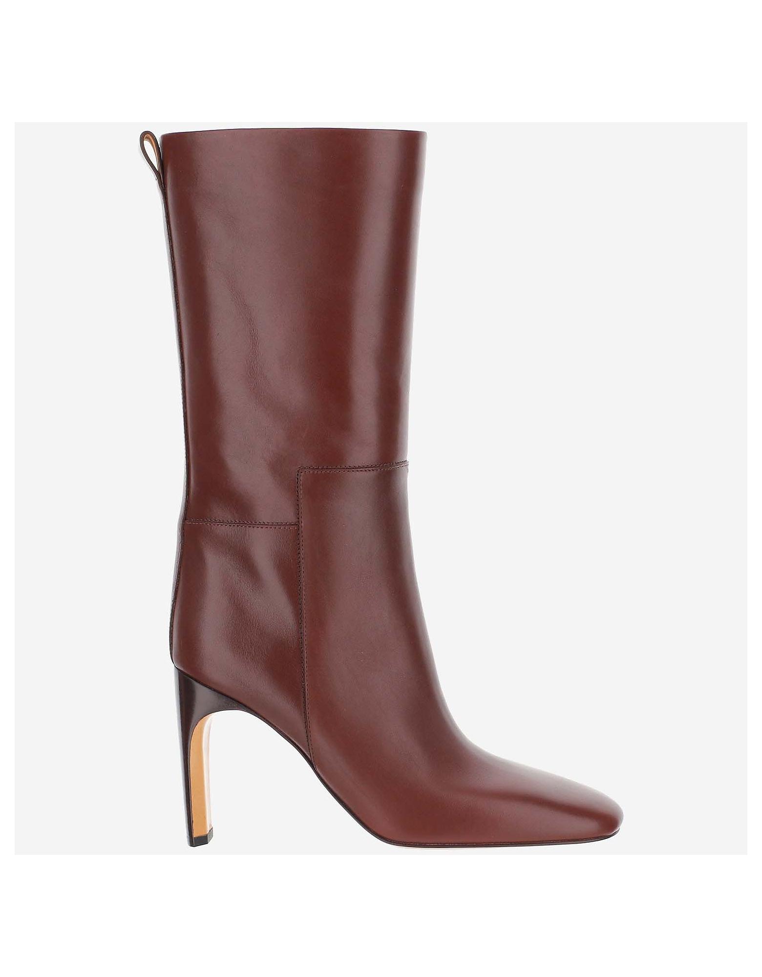 Jil Sander Designer Shoes, Rosso Ankle Boots