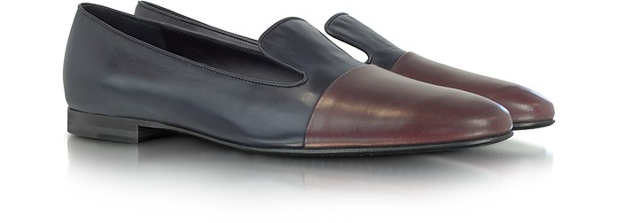 Two Tone Leather Loafer - Jil Sander