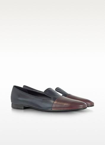 Two Tone Leather Loafer - Jil Sander
