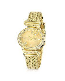 Sin JC Stainless Golden Steel Women's Watch - Just Cavalli