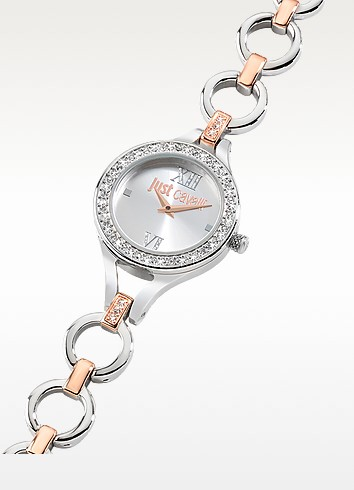 Solo JC Stainless Dual Steel Women's Watch - Just Cavalli