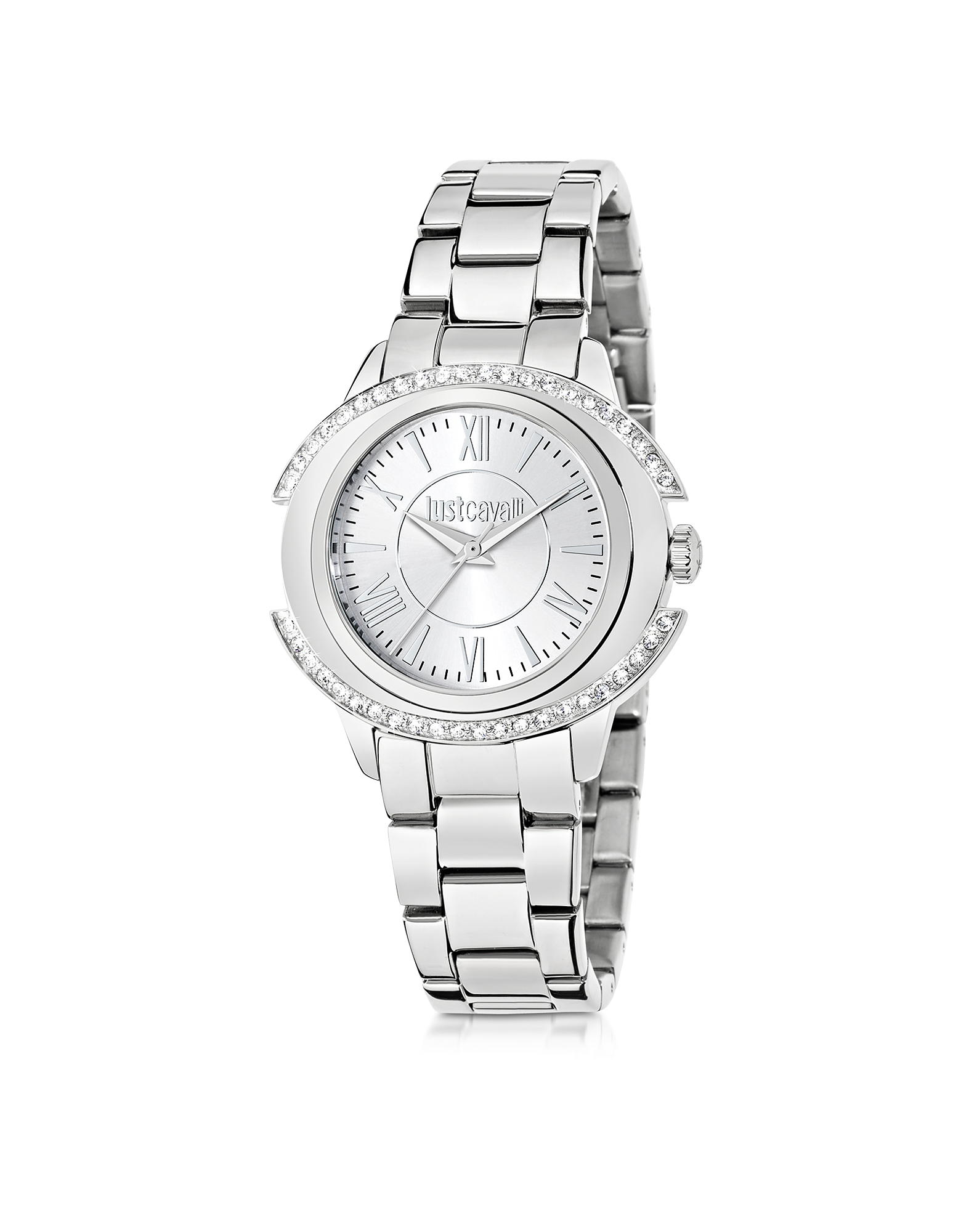 Just Cavalli Women's Watches, Just Decor Silver Tone Stainless Steel Women's Watch